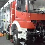 Začetna faza izdelave nadgradnje vozila (18.4.2014)