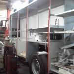 Začetna faza izdelave nadgradnje vozila - leva (18.4.2014)